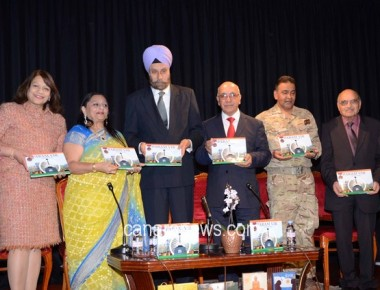 High Commisioner Navtej Launches PARAMVIR in London written by Manju Lodha