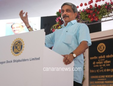 Shri Manohar Parrikar Inaugurates Submarine assembly workshop at MDL