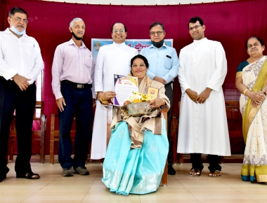 Felicitation to Marcelline Shera teacher who retired today