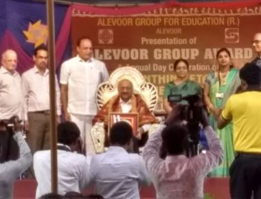 'Alevoor Group Award'  awarded to Prof. Mathew C Ninan, Director, Little Rock Indian School, Brahmavar
