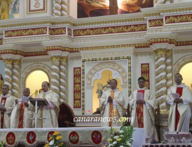 Udupi Diocesan Annual Eucharistic Sacrament procession held at Kallianpur