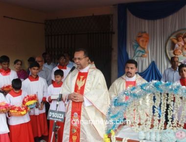 The Nativity of Mother Mary feast celebrated at Milagres Cathedral, Kallianpur