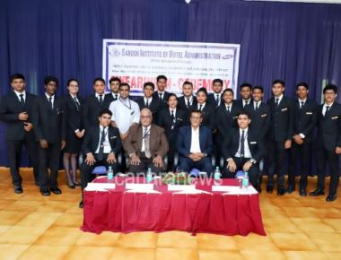 The Swearing in- ceremony of the students council of Sarosh Institute of Hotel Administration