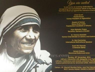 Mother Teresa Award-2016 by Harmony Foundation