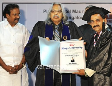 Shiva M Mudigere Conferred with Doctorate Degree from King's University of USA