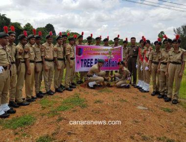 Tree Planting Programme held at St Philomena College Puttur
