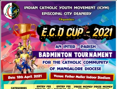 ICYM Episcopal City Deanery to organize an Inter-Parish Badminton tournament for the Catholic community of Mangalore Diocese