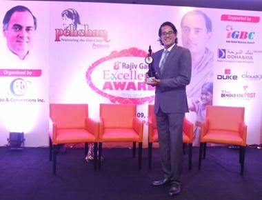 Filmmaker Pankaj Purohit Felicitated with the Rajiv Gandhi Excellence Award !
