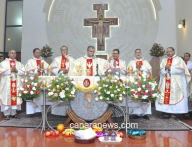 Feast of Our Lady of Angles of Portiuncula celebrated at St Anne's Friary, Mangaluru