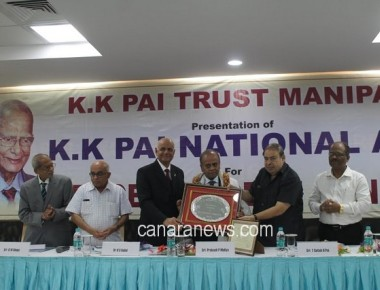 Prakash P. Mallya honored with K. K. Pai National Award at Manipal