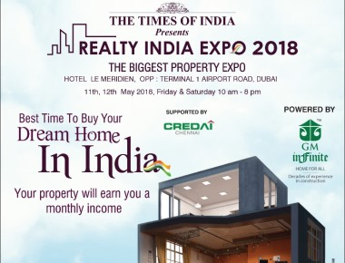 Realty India Expo 2018 in Dubai on 11th and 12th May