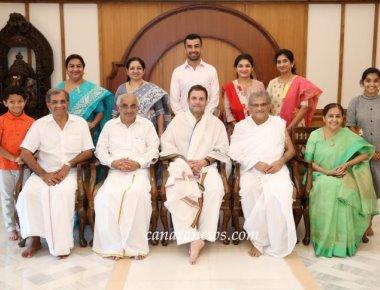 Rahul Gandhi pays visit to Dharmasthal