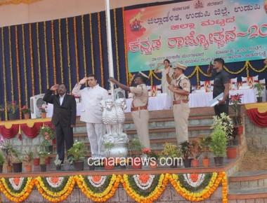 60th Kannada Rajyotsava held at Udupi with grand and colorful celebrations