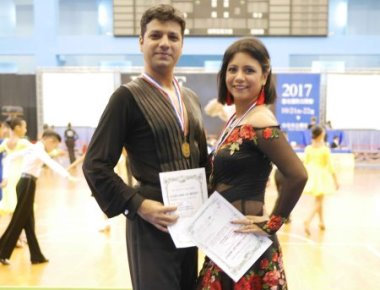 Rajeswari Vaidyanathan and Shannon Benjamin won Gold medal in Asia Open Latin Championship