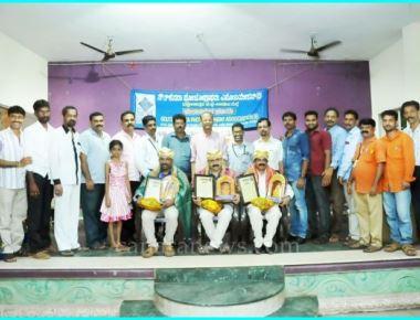 Writers were felicitated on the day of Kannada Rajyotsava