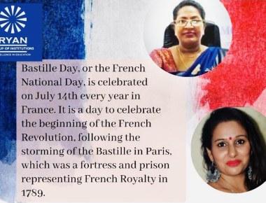 Ryan International School, Chembur Celebration of France National Day (BASTILLE DAY).