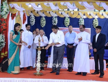 Inauguration of the Students' Council of St Philomena PU College Puttur
