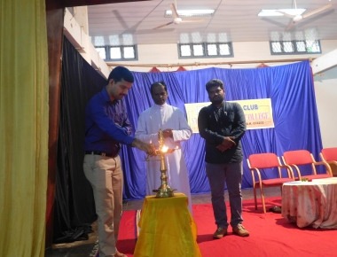 A talk on Cyber Crime at St Philomena P.U.College , Puttur
