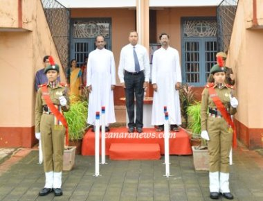 73rd Independence Day Celebrated at St Philomena College Puttur