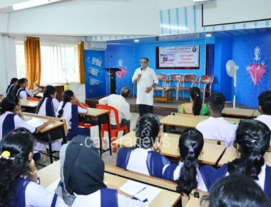 PG Department of Economics of SPC Puttur organized guest lecture on 'Major Issues of the Karnataka Economy'