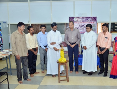 Book Exhibition held at PG Library of St Philomena College Puttur