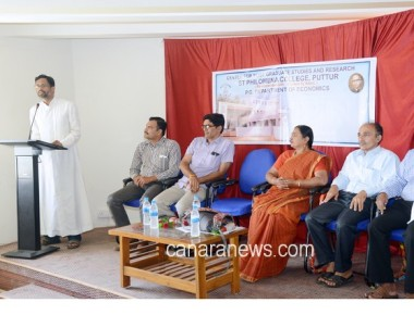 Panel Discussion on 'Currency Demonetization' held at St Philomena College Puttur
