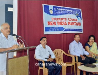 "Guest Lecture on ""New India – Manthan"" held at St Philomena college puttur"