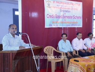 Orientation on Credit Based Semester Scheme at St Philomena College Puttur