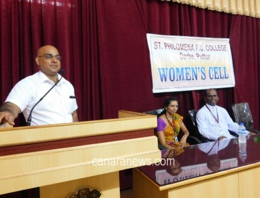 Guest Lecture on 'Bone Health among Women' held at St Philomena PU College Puttur