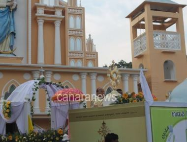 Record number of faithful participated at the Annual Eucharistic procession of Udupi Diocese