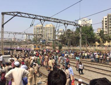 Train knocks down 14-year-old boy