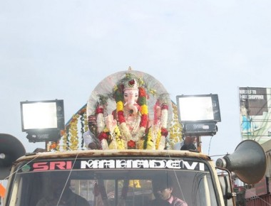 The 30th Sarvajanik Sri Ganeshotsava concluded with the immersion of the Sri Ganesha idol at Suvarna River, Kallianpur