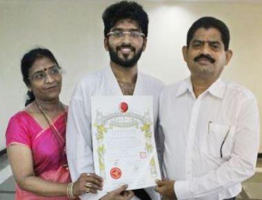 Kadandale Saurabh Suresh Bhandary Karate Champion