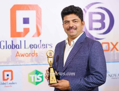 "Global Leaders Award ""Enterprise Edition 2019"" for Dr. Shivarama Bhandary as Most Innovative Hair Stylish of the Year'"