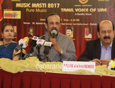 'Tamil Voice of UAE' to be indentified during 'Music Masti 2017' spectacular show on 14th April in Dubai
