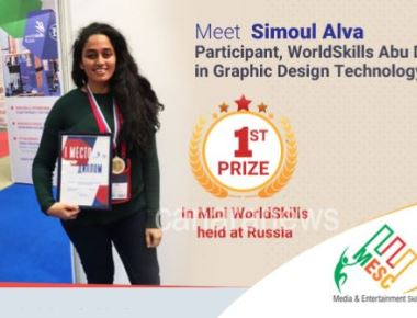 Mundkur Doddamane Ms. Simoul Alva, Winner of Medallion of Excellence at World Skills, Abu Dhabi 2017