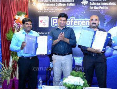 MOU signed between St Philomena College Puttur and Ashoka Innovators