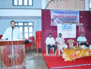 Guest Lecture on Securities Market Analysis held at St Philomena College Puttur