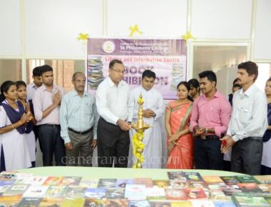 'Book exhibition and Sale' at PG Centre of St Philomena College Puttur