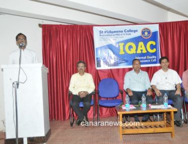 Workshop on Effective Teaching held at St Philomena College Puttur