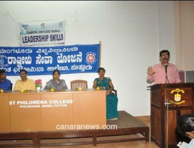 Leadership Training held at St Philomena College Puttur