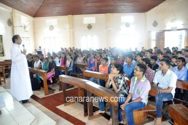 Annual Retreat held at Philomena PU College Puttur