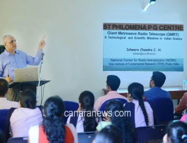 Guest Lecture on Giant Meterwave Radio Telescope at St Philomena College Puttur