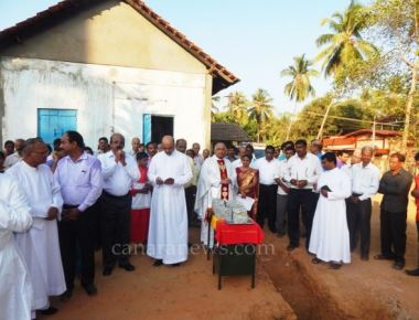 Laying the foundation Stone for the residential home of Parish Priest of Kundapur Rosary Church