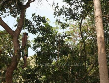Young man committed suicide at Santhekatte