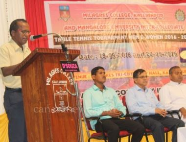 Mangalore University level Intercollegiate Table Tennis Tournament inaugurated at Millage College, Kallianpur