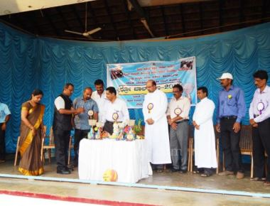 District Level Throw-Ball Tournament at Holy Rosary Church Stadium