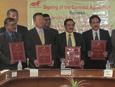 Two Contracts Signed for Signalling and Telecommunications Works for Dedicated Freight Corridor Project in India
