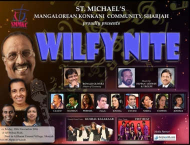 The famous 'Wilfy Nite' again ready to be hosted by SMMKC at Sharjah on 25 November