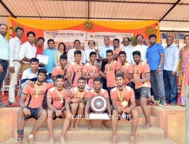 Mangalore University Inter Collegiate Kabaddi Tournament for Men held at SPC Puttur